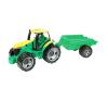 LENA Nagy traktor utánfutóval autópálya és játékautó