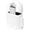 USB - Mikro USB csatlakozó átalakító, OTG funkcióval [1x USB 2.0 dugó Micro-B - 1x USB 2.0 aljzat A] fehér, LogiLink AA0063