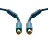 Antenna csatlakozókábel [1x Antennadugó, 75 Ω - 1x Antennacsatlakozó alj, 75 Ω] 20 m 95 dB aranyozott érintkező/Ferritmaggal Kék clicktronic