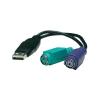 PS/2 - USB konverter, csatlakozó átalakító kábel [2x PS/2 alj – 1x USB A 1.1 ] 0.20 m Manhattan 179027