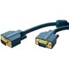 VGA Csatlakozókábel [1x VGA dugó - 1x VGA dugó] 5 m Kék 2560 x 1600 pixel clicktronic