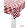 Asztalterítő BERGFRUE 90x90 piros kockás JK