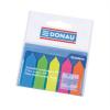 Jelölőcímke, műanyag, nyíl forma, 5x25 lap, 12x45 mm, DONAU, neon szín 125 lapos
