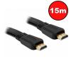 Kolink Noname Jelkábel HDMI-HDMI 1.4 3D 15m aranyozott Am/Am kábel és adapter