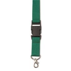 Csatos nyakpánt, kulcstartó, zöld (Csatos nyakpánt cseppkarabíner kulcstartóval. Méret: 80 × 2,5 × 1,1)