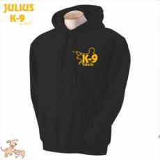 Julius-K9 K9 kapucnis pulóver, fekete - méret: L