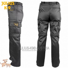 Julius-K9 K9 pamut nadrág, cipzározható szárral - impregnált, fekete / méret 38