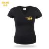 Julius-K9 K9 Női V-nyakú rövid ujjú póló, fekete - méret: M