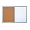 BI-OFFICE Dry-wipe&Cork Notice Board  BI-OFFICE  Combo  60x40cm  glazed  colourful frames 5603750021322