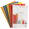 GIMBOO School exercise book cover  GIMBOO  crystal  A4  150 micron.  assorted colours 5901503660164