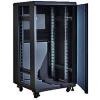 X-Tech - 18U 600x800 mély álló rack szekrény, sötétszürke