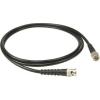 Klotz WordClock kábel, 1 m Telegartner aranyozott BNC - BNC csatlakozók + RG59B/U fekete, koaxiális kábel