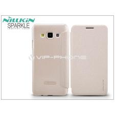Nillkin Samsung SM-A300F Galaxy A3 oldalra nyíló flipes tok - Nillkin Sparkle - golden tok és táska