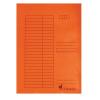 VICTORIA Pólyás dosszié, karton, A4, VICTORIA, narancssárga