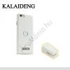 Kalaideng DRIVE műanyag telefonvédő (bőrbevonat, mágneses szellőzőre rögzíthető tartó, lyukacsos minta) FEHÉR [Apple iPhone 6 4.7``]