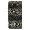 utángyártott Műanyag telefonvédő (kígyóbőr minta) FEKETE [Samsung Galaxy A5 (SM-A500F)]