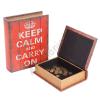 Keep Calm Könyv Alakú Fadobozok (2 darab)