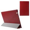utángyártott Műanyag telefonvédő (bőr flip, oldalra nyíló, FOURFOLD asztali tartó funkció) PIROS [Sony Xperia Tablet Z4 LTE]