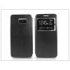 Samsung SM-G928 Galaxy S6 Edge+ S-View Flexi oldalra nyíló flipes tok - fekete