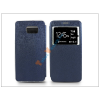 Haffner Samsung SM-G928 Galaxy S6 Edge+ S-View Flexi oldalra nyíló flipes tok -kék