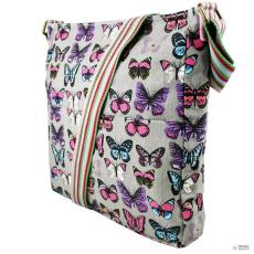 L1104B - Miss Lulu London szögletes táska pillangó szürke