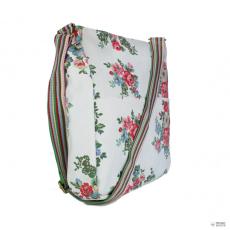 L1104F - Miss Lulu London szögletes táska Flower Polka Dot fehér