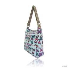 L1104B - Miss Lulu London szögletes táska pillangó világos kék
