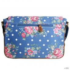 L1157F - Miss Lulu London táska Flower Polka Dot Navy