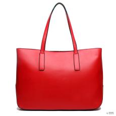 L1435 - Miss Lulu London nagyméretű válltáska bevásárló táska táska piros