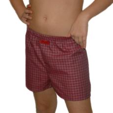 Boxeralsó gyerek (pamut-vászon) bordó kockás