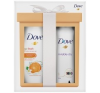 DOVE ajándékcsomag Revitalize+Invisible tusfürdő 250ml+deo spray 150ml dezodor