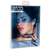 ZADO - strasszos, bőr nyakörv (fekete)
