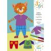 DJECO Elliot&Zoé clothes-színes öltöztető kreatív szett
