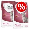 Concept for Life 2 x nagytasakos Concept for Life - gazdaságos csomag - All Cats 10+ (2 x 3 kg)