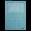 Leitz Karton mappa ablakos 39500330 A4, 160g V.KÉK LEITZ