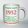 Évszámos bögre 63, 1952.