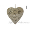 Fém szív dekoráció 20cm többféle