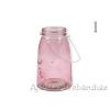 Gyertyatartó üveg + fül 12x30cm