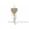 Fonott szív dekoráció Love 32cm