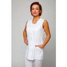 Csillagdivat Tunika ucnis nyári ujjatlan (Női munkaruházat fehér)