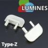 Lumines Alu profil eloxált (Type-Z) végzáró (fekete)