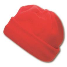 Polár sapka, piros (Polár sapka, 200 g/m2 Méret: 27x16cm.)