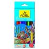 ADÉL Adél akvarell színes ceruzakészlet 12db-os, ajándék ecsettel