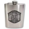 Óncímkés fém flaska, lapos üveg Évszámos 40, 45, 50 (50-es)