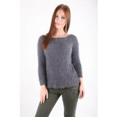 Impresszió Szürke szőrös pulóver