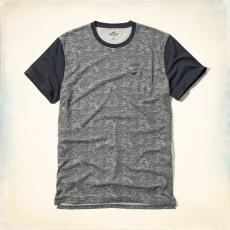 Hollister póló- szürke-fekete