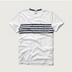 Abercrombie póló- fehér, csíkos