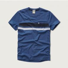 Abercrombie póló- kék, csíkos