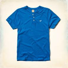 Hollister póló- kék, gombos