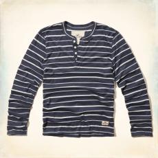 Hollister hosszú ujjú póló- kék, csíkos